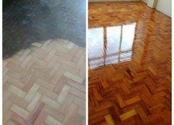 raspagem de piso de madeira sem poeira