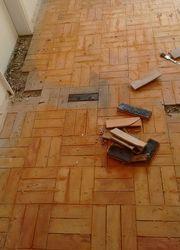 recuperação de tacos de madeira
