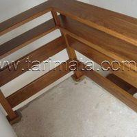 Corrimão e guarda corpo de madeira