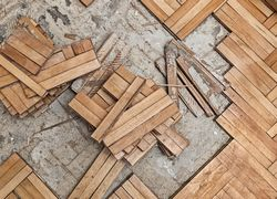 taco de madeira para piso